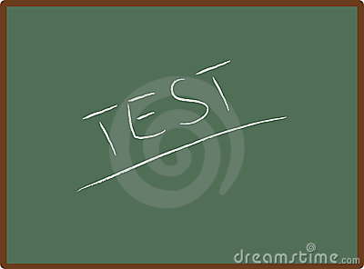 school board with TEST word