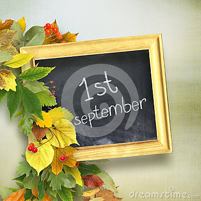Free School Board With The Inscription `First September` Stock Images - 94530094