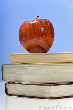 School Books And Apple Stock Photos - Image: 2889993