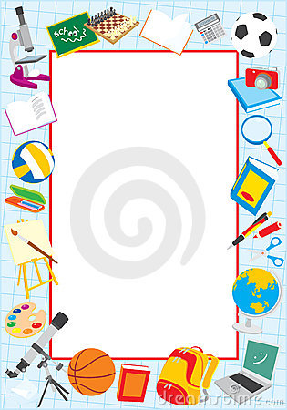 Free School Border Royalty Free Stock Images - 21244759