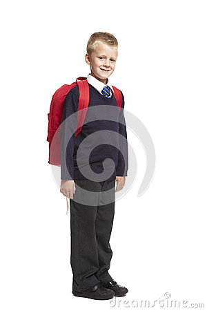 School Boy With Backpack Royalty Free Stock Photo - Image: 26142195