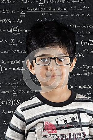 School boy standing