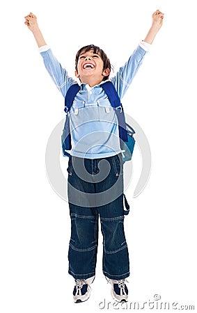 Free School Boy Very Happy Royalty Free Stock Image - 13714966
