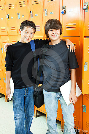 Free School Boys - Best Friends Stock Photos - 20228233
