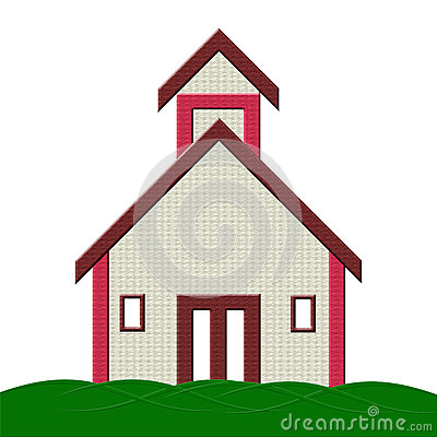 School Building with grass Illustration