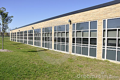 School building with many windows