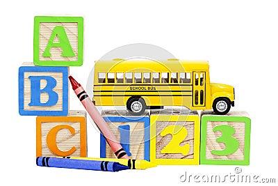 School Bus Learning Blocks