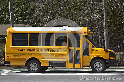School bus in New York Editorial Stock Photo