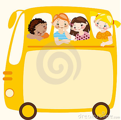 School bus. Place for your text.