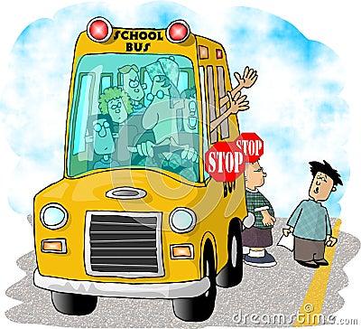 Free School Bus Stop Stock Photo - 47720