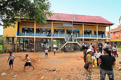School at Cambodia Editorial Photo