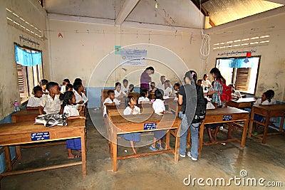 School in Cambodia Editorial Photo