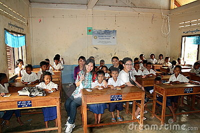 School in Cambodia Editorial Stock Photo