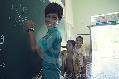 School in Cambodia Editorial Stock Image