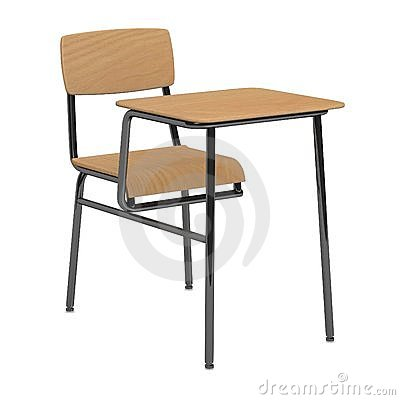 School Desk And Chair Clip Art School chair and table for a