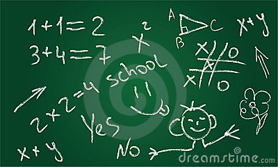 School chalkboard. Hand-Drawn Design Element