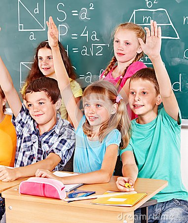 Free School Child Sitting In Classroom. Royalty Free Stock Photography - 26671597