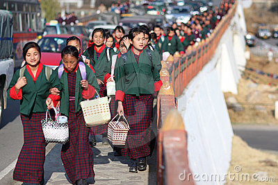 School children, Bhutan Editorial Image