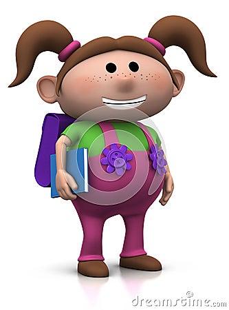 School children - girl with brown