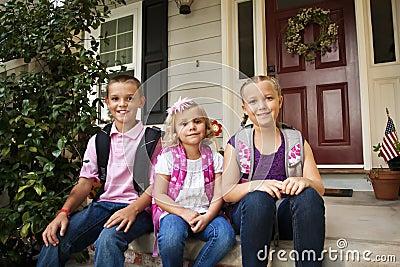 School Children Ready For School