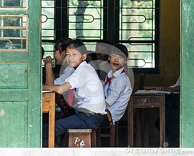 School Children in Vietnam Editorial Photography