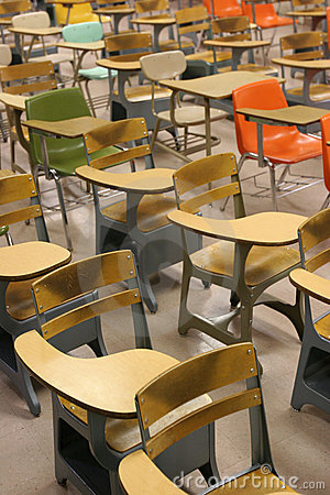 Free School Classroom Desks Royalty Free Stock Images - 2034849