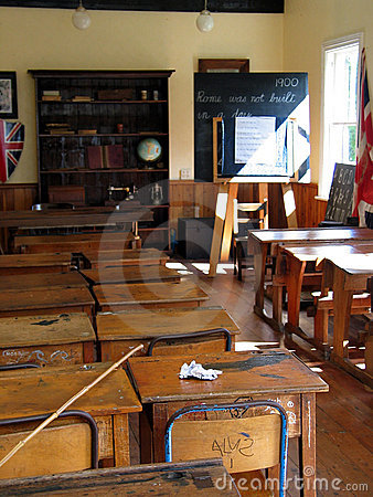 Free School Classroom Desks Royalty Free Stock Photography - 48437