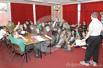 School classroom teacher children Editorial Image