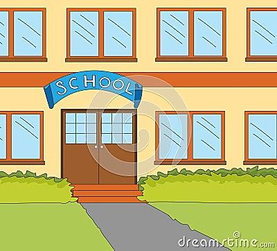 School classroom window