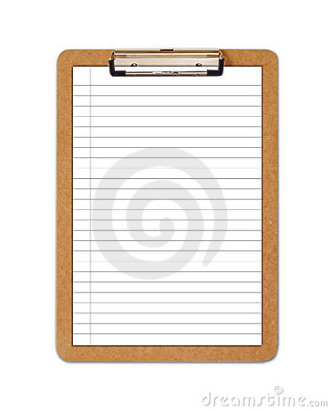 School Clipboard with ruled paper