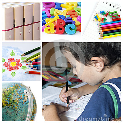 Free School Collage Stock Images - 29045174