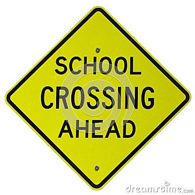 School Crossing Ahead