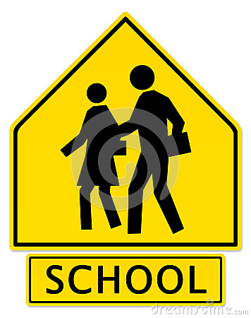 Slow Down! School Zone Ahead