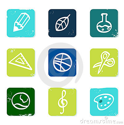 School and education icons set & elements.
