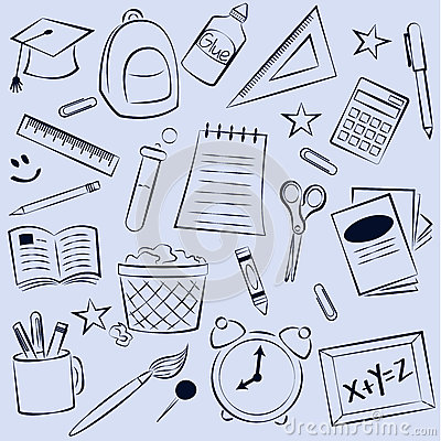 Free School Elements Background Royalty Free Stock Photos - 26093268