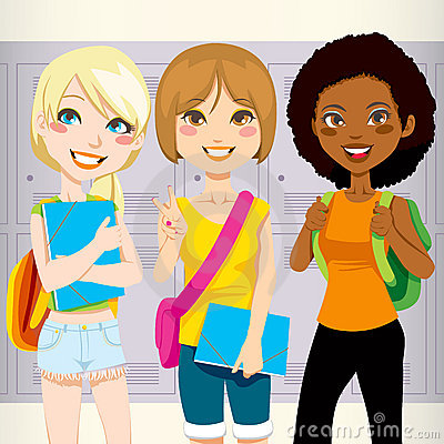 Free School Friends Royalty Free Stock Images - 20655679
