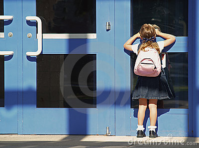 school girl first day