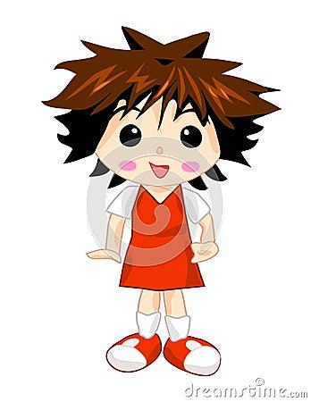 School Girl in Red