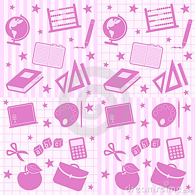 Free School Girl Seamless Tiles Stock Images - 11011584