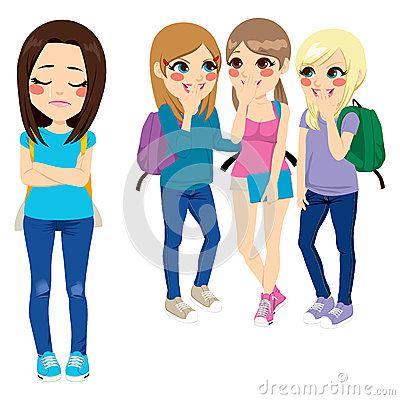 Free School Girls Bullying Stock Photo - 40834220