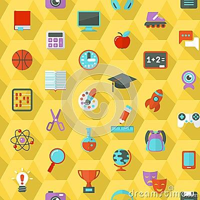 School Hexagon Pattern