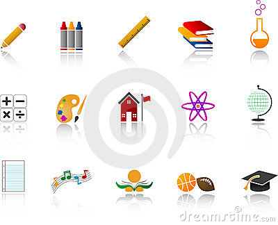 School Icon Set - Color
