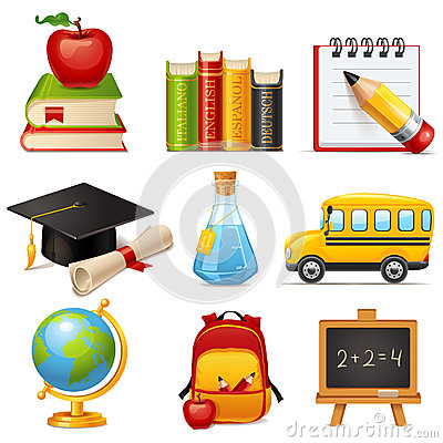 Free School Icons Royalty Free Stock Image - 35369006