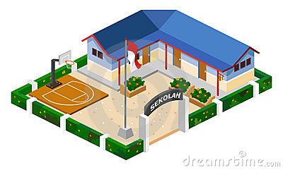 Clip Art Free School Building School Building Free to Use