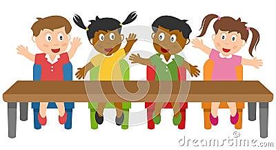 School Kids in the Classroom
