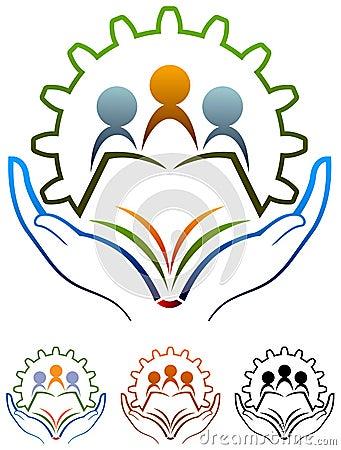 School logo Vector Illustration
