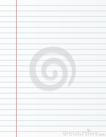 Lined Paper / Ruled Page Stock Photo - Image: 3505270