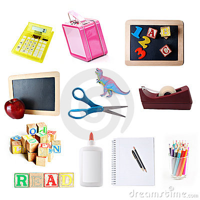 School objects collection