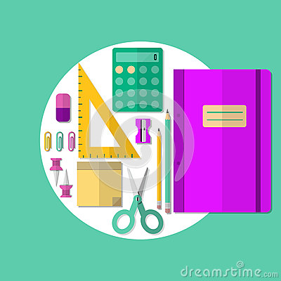 School Or Office Supplies Stock Vector Image 50950315