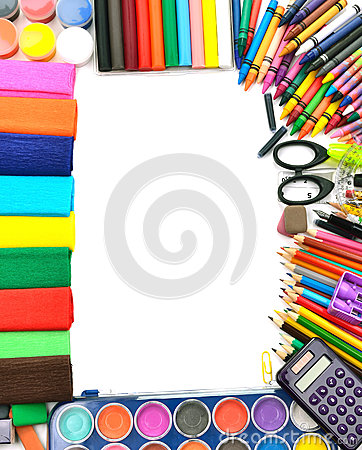 School and office supplies frame